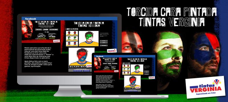 App Facebook - Tintas Verginia - Agência Negocios na Internet